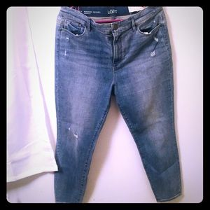 Loft high waist skinny ankle jean 12 petite